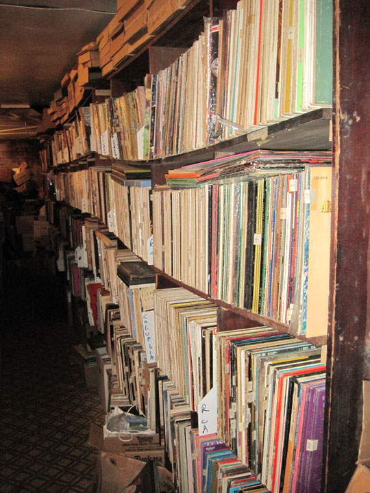 Stacks of LPs