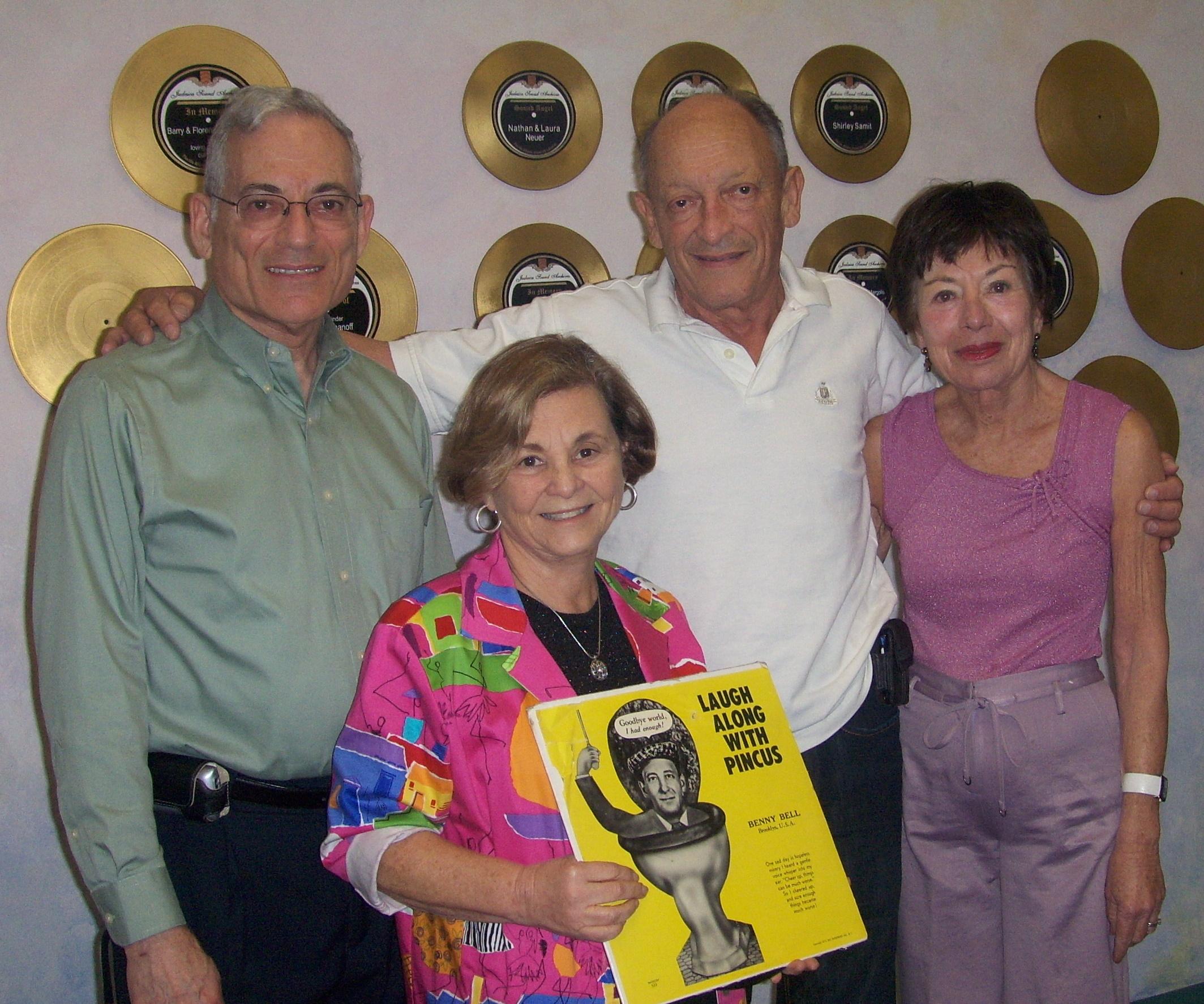 Left to Right: Nathan Tinanoff, Maxine Schackman, Chuck Samburg, Gloria